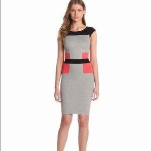 French connection Colorblock Bodycon Dress 4 NWT